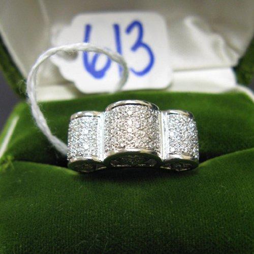 613: DIAMOND AND EIGHTEEN KARAT WHITE GOLD RING,  cover