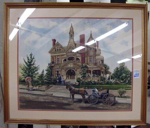 622: PERRIN (American, 20th century watercolorist)  Wat