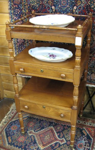 10: VICTORIAN STYLE WALNUT WHAT-NOT STAND, American, ea