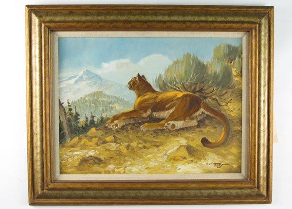 13: JAMES E. BRAMLETT (Arizona, born 1932)  Oil on Maso
