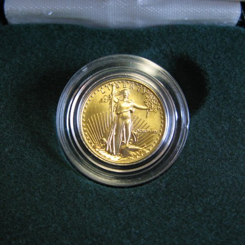 301: AN AMERICAN FIVE DOLLAR GOLD COIN, an Eagle,  date