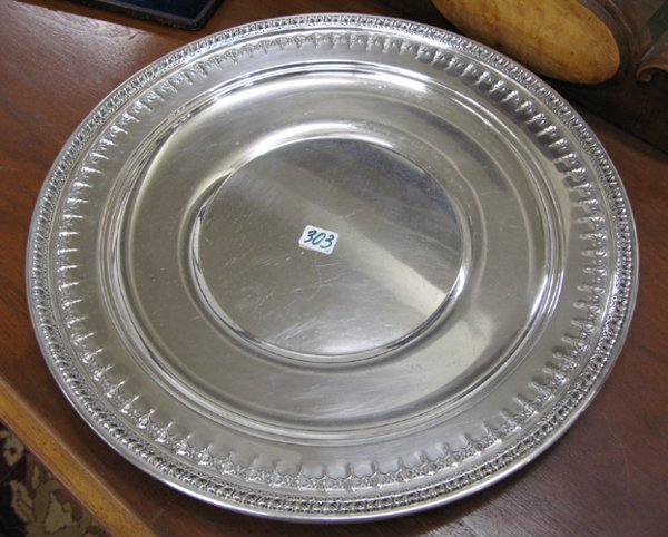 303: THREE SILVERPLATED TABLE ACCESSORIES:  an English