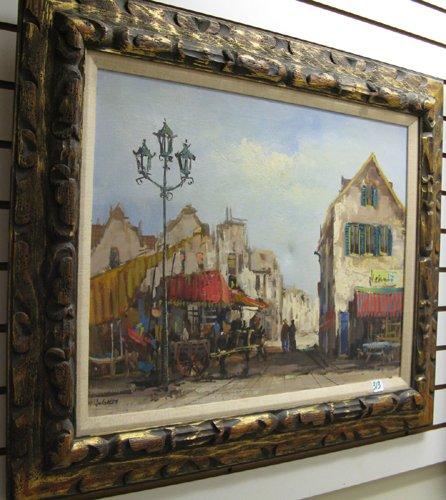 313: J. GALEN (American, 20th century)  Oil on canvas