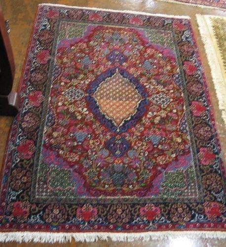 616: SEMI-ANTIQUE PERSIAN SAROUK AREA RUG, floral and f