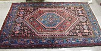 678 TWO SEMIANTIQUE PERSIAN AREA RUGS 42 x 610 B