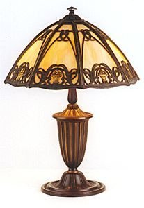 8: A BRADLEY AND HUBBARD SIGNED TABLE LAMP. The origina
