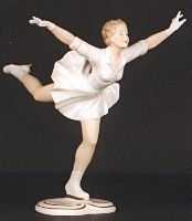17: WALLENDORF GERMAN PORCELAIN FIGURINE, a gliding ice