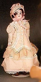 1001: FRENCH BISQUE HEAD DOLL, Francois Gauthier, brown