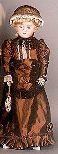 1007: GERMAN BISQUE HEAD DOLL, Heinrich Handwerck, blon
