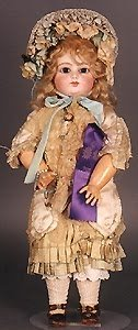 1093: FRENCH BISQUE HEAD DOLL, F.G. Bebe, Francois Gaut