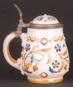 2: A GERMAN METTLACH BEER STEIN, no. 1802, 1/2 liter, t