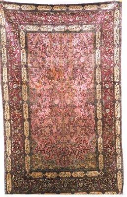 844: SILK KASHAN PRAYER RUG, Iran, early 20th century,
