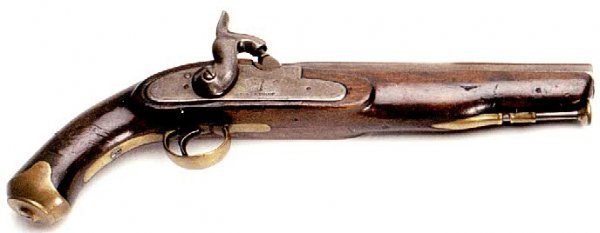 21: ENGLISH PERCUSSION SINGLE SHOT PISTOL, approximatel