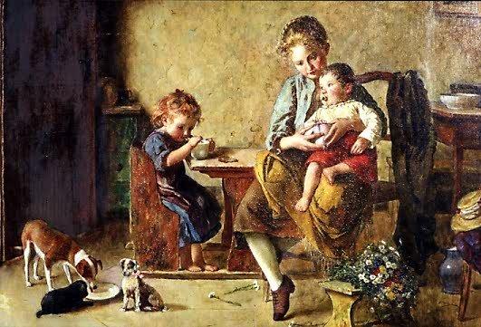 828: EDMUND ADLER (German, 1871-1965) Oil on canvas A g