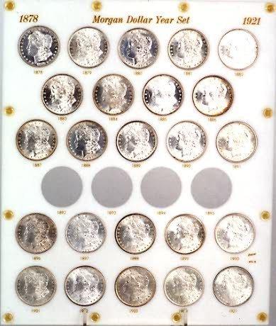 842: SET OF TWENTY-FOUR U.S. SILVER DOLLARS, Morgan typ