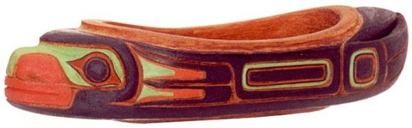 11: NATIVE AMERICAN HAND CARVED FIGURAL BOWL, Pacific N