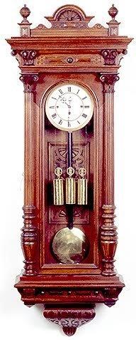 783: THREE-WEIGHT GRANDE SONNERIE WALL CLOCK, German, 1