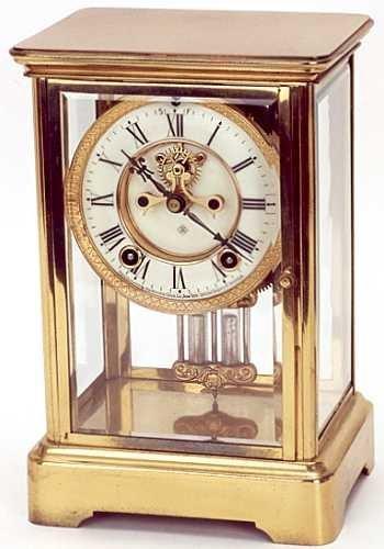 10: AN AMERICAN CRYSTAL REGULATOR SHELF CLOCK, Ansonia
