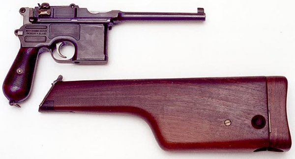 3: MAUSER MODEL 1896 BROOMHANDLE PISTOL WITH HOLSTER ST