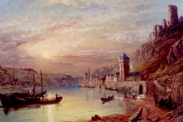 839: JAMES BAKER PYNE (British, 1800-1870) Oil on canva