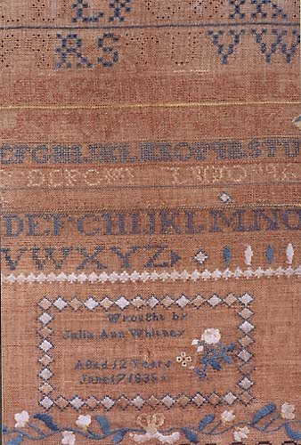 """23: AN EARLY AMERICAN SAMPLER, dated June 17, 1836, """"wr"""