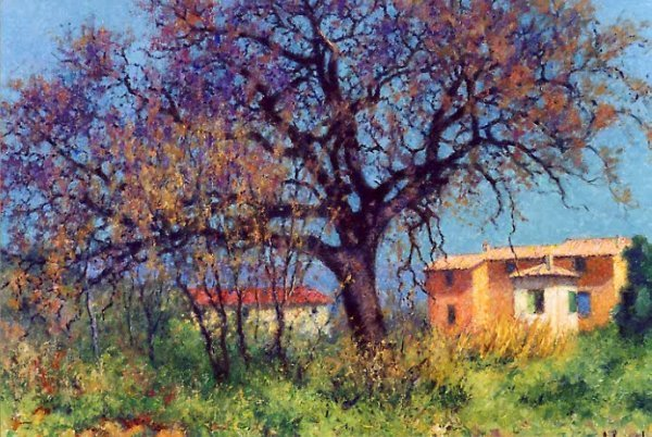 839: RAYMOND THIEBESART (French, 1874-1968) Oil on canv