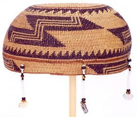 1: LOWER KLAMATH RIVER BASIN WOVEN HAT, Hupa, circa 190