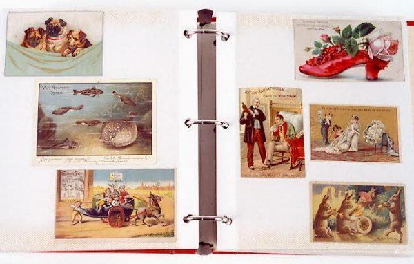 5: A LARGE COLLECTION OF ADVERTISING (TRADE) CARDS, nea