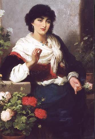 "840: ROBERT KEMM (British, 1849-1890) Oil on canvas ""Sp"