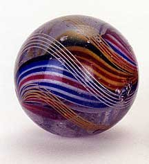 21: A LARGE VINTAGE MARBLE, circa 1920, solid core in b
