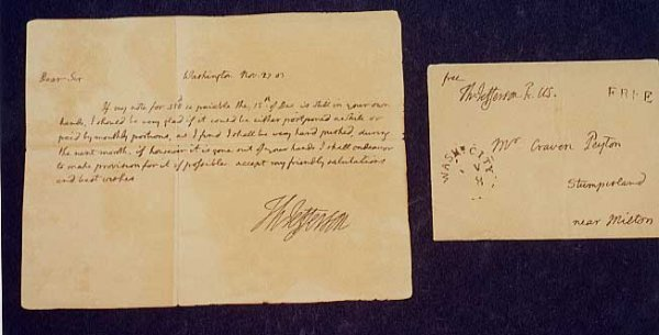 107: A HAND-WRITTEN AUTOGRAPHED LETTER BY THOMAS JEFFER
