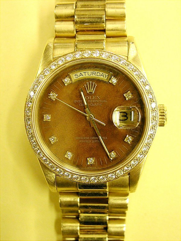 854: MAN'S ROLEX WRISTWATCH, Oyster Perpetual Day-Date,