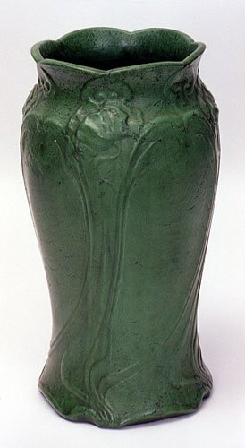 5: AN EARLY ROSEVILLE POTTERY UMBRELLA STAND, Art Nouve