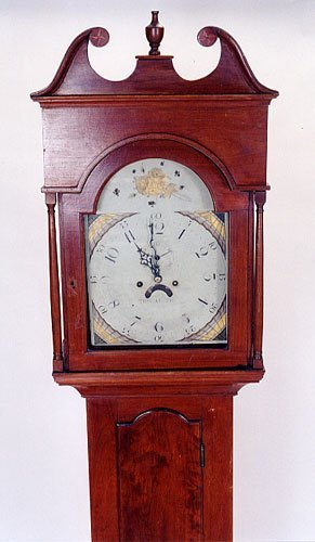 190: AMERICAN TALL CASE FLOOR CLOCK, Thomas Crow clockm