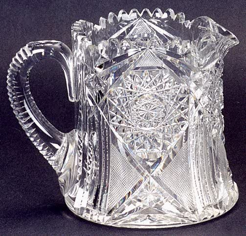 7: AN AMERICAN BRILLIANT CUT GLASS PITCHER, circa 1900,