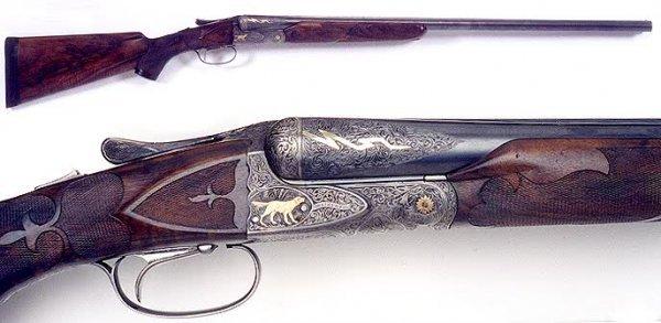 190: A.H. FOX HIGHEST GRADE DOUBLE BARREL SxS SHOTGUN,