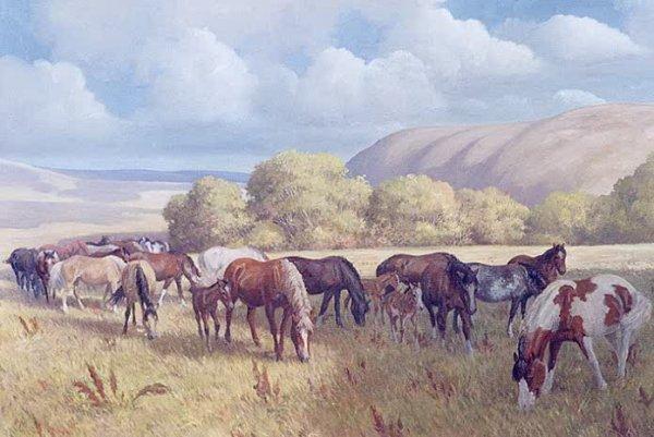 """839: EDWARD B. """"QUIG"""" QUIGLEY (Oregon, 1895-1986) Oil o"""