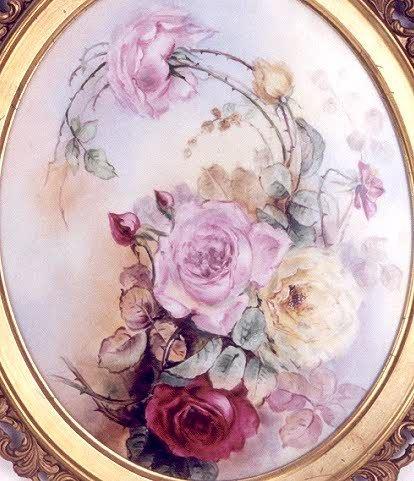 22: A HAVILAND LIMOGES PORCELAIN PLAQUE, hand painted w