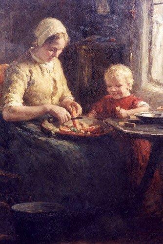 "820: EVERT PIETERS (Dutch, 1856-1932) Oil on canvas ""Pr"