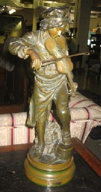 """5: A SPELTER FIGURE by Bradley and Hubbard. """"Lulli"""" tit"""