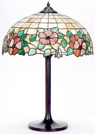 14: AN AMERICAN TABLE LAMP, c.1925. The 18 in. diameter
