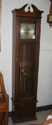 510: MODERN GRANDFATHER FLOOR CLOCK BY LeGANT. The 3-we