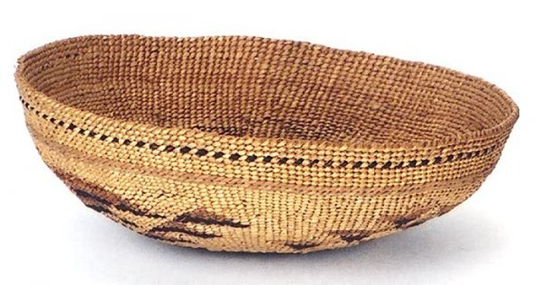 15: A HUPA (NORTHERN CALIFORNIA) AMERICAN INDIAN WOVEN