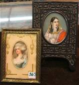 367: TWO PORTRAIT MINIATURES. One is an oil on ivory ve