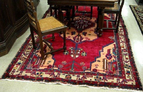 12: PERSIAN TRIBAL HAMADAN CARPET, hand knotted, geomet