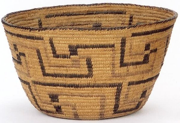 5: PIMA INDIAN BASKET made from split willow in devil's