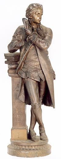 6: SPELTER FIGURE depicting a young Alexander Hamilton