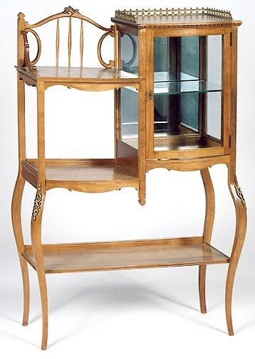18: PETITE VICTORIAN ETAGERE, Louis XV style, American,