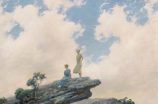801: CHARLES COURTNEY CURRAN (American, 1861-1942) Oil