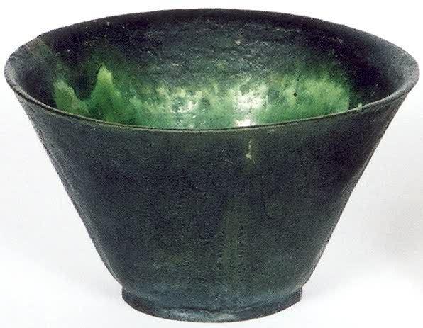 5: GRUEBY ART POTTERY VASE, by The Grueby Pottery Co.,